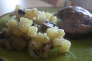 Un patate'zotto en accompagnement... d'un confit de canard./ Photo DR Lexie Swing