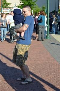 Jeune père américain et son bébé./ Photo Tobyotter