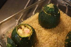 Duo de courgettes farcies./ Photo DR Lexie Swing