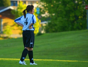Soccer girl./ Photo Paul Falardeau