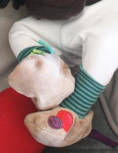 Mon conseil spécial nouveau-né: les chaussons-chaussettes./ Photo DR Lexie Swing