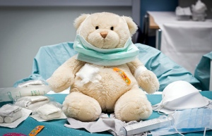 Teddy bear doctor./ Photo Christiaan Triebert