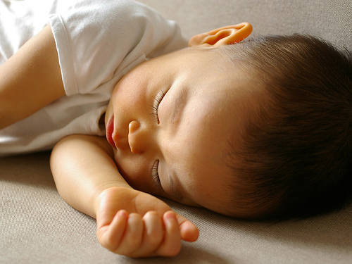 Baby's sleeping./ Photo Tamaki Sono