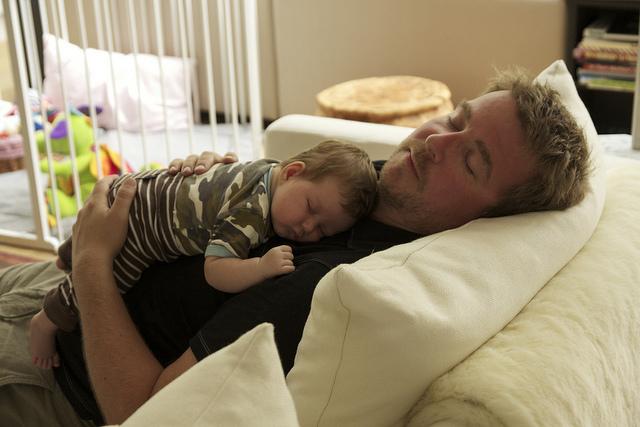 Dad and son./ Photo  Richard Leeming