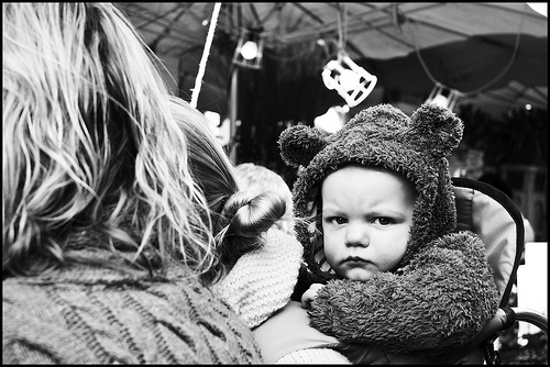 Angry baby./ Photo Andy Matthews