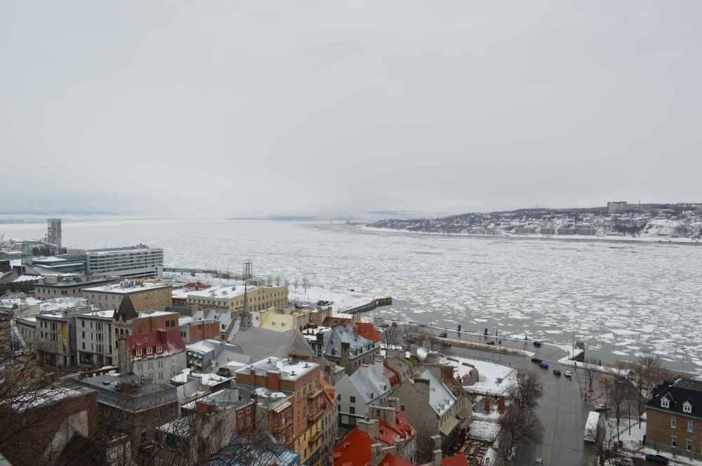 La neige était encore présente début avril à Québec./ Photo DR Lexie Swing