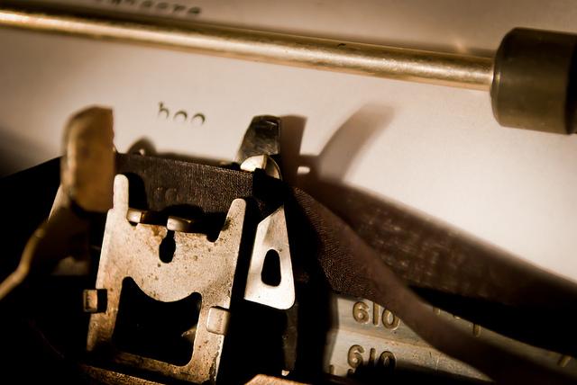 Typewriter./ Photo Derek Gavey